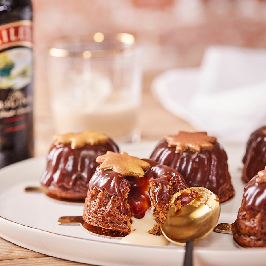Baileys Sticky Toffee Pudding with Salted Caramel and Custard