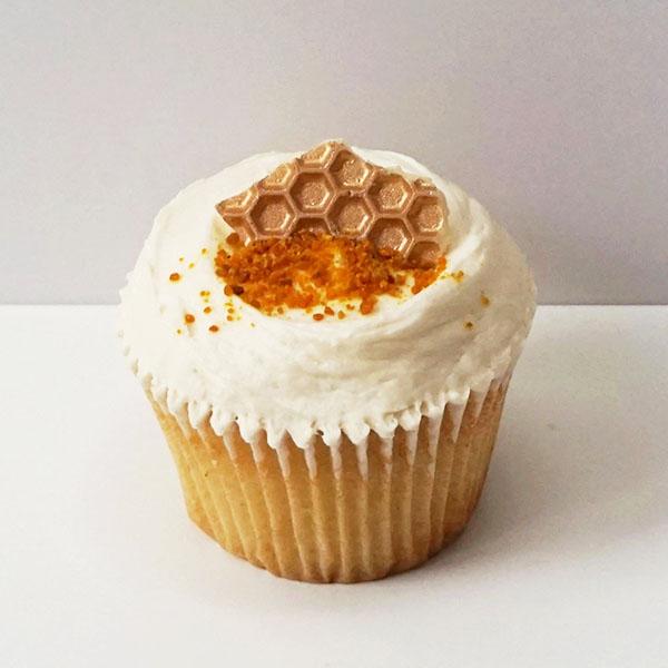 honeycomb cupcake