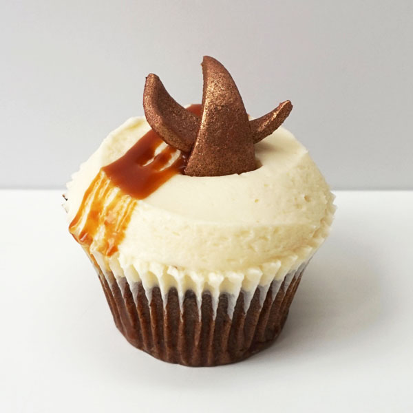 sticky toffee cupcake