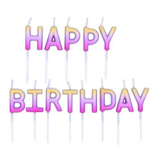 Happy Birthday Candles  |  £5