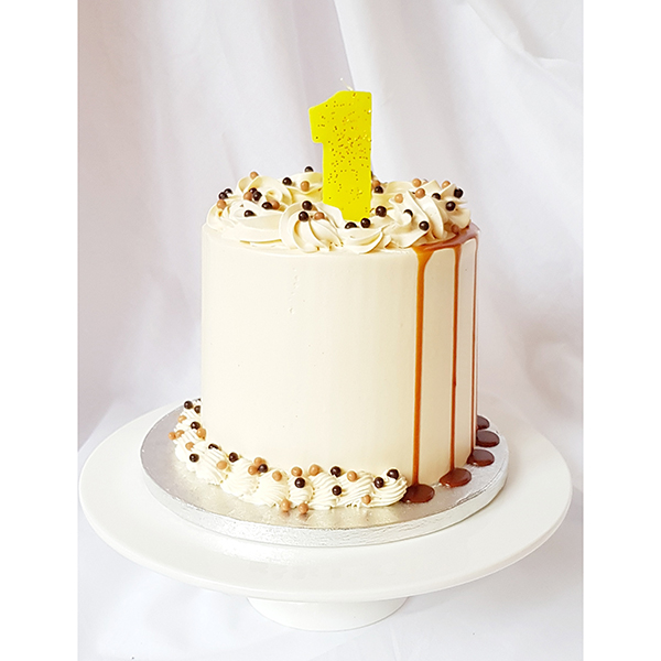 Excellent Caramel Drip Birthday Cake Home Delivery Lily Vanilli Bakery London Personalised Birthday Cards Veneteletsinfo