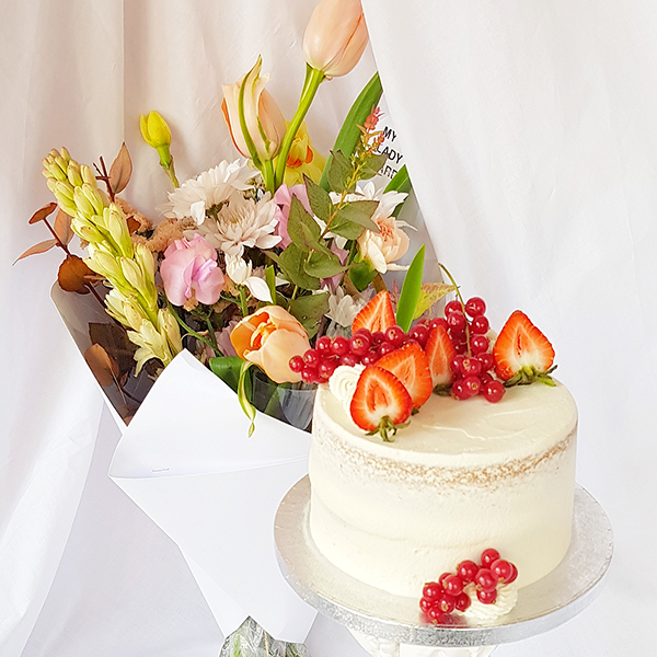 Cake and @myladygarden Flowers Combo Deal  |  £60