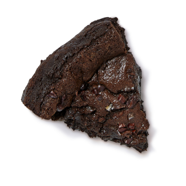 cut slice of flourless chocolate cake