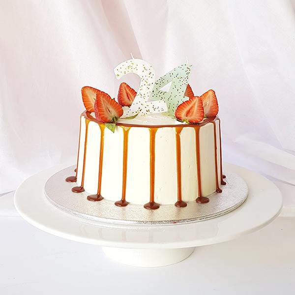 Phenomenal Mini Carame Birthday Cake Lily Vanilli Bakery London Personalised Birthday Cards Paralily Jamesorg