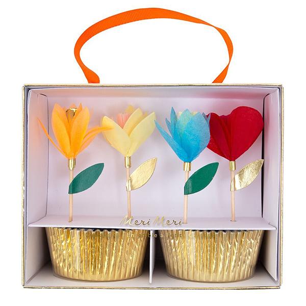 Bright Floral Cupcake Kit  |  £12