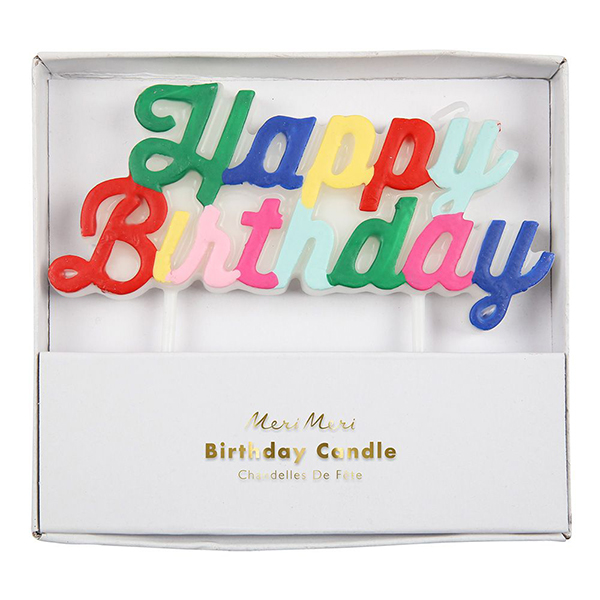 Happy Birthday Candles  |  £5