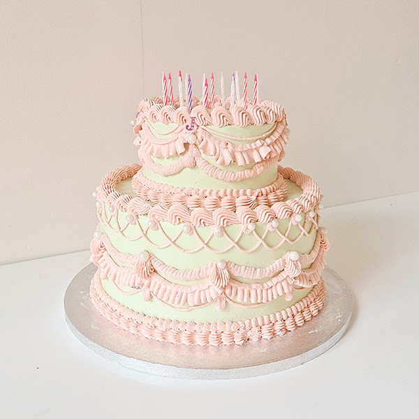 Piped birthday cake! | £65