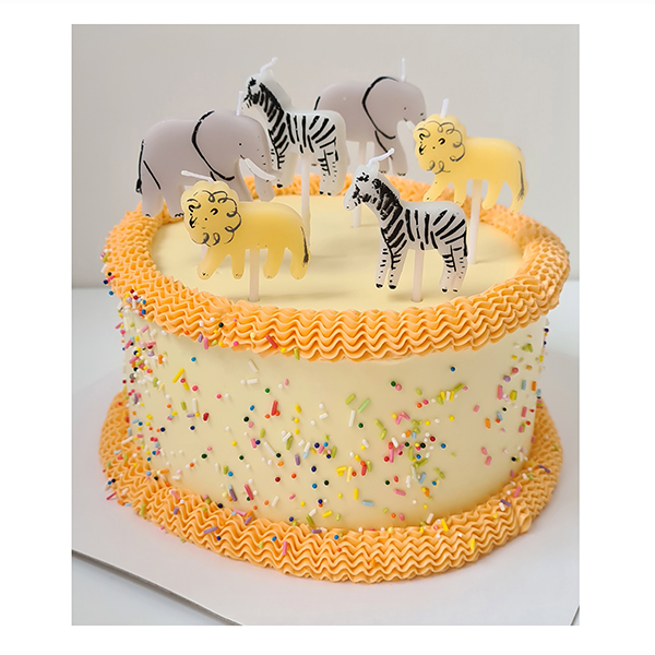 Safari Candles Kids Cake