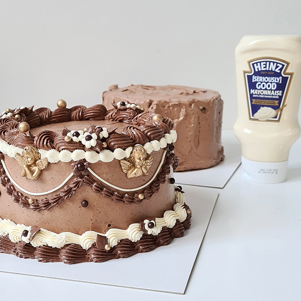 Heinz Mayonnaise Chocolate Easter Cake