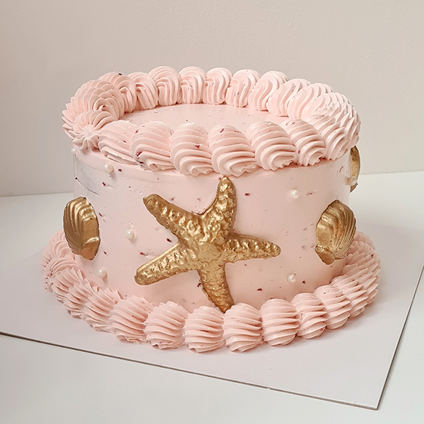 Raspberry Ripple Shell Cake | from £50