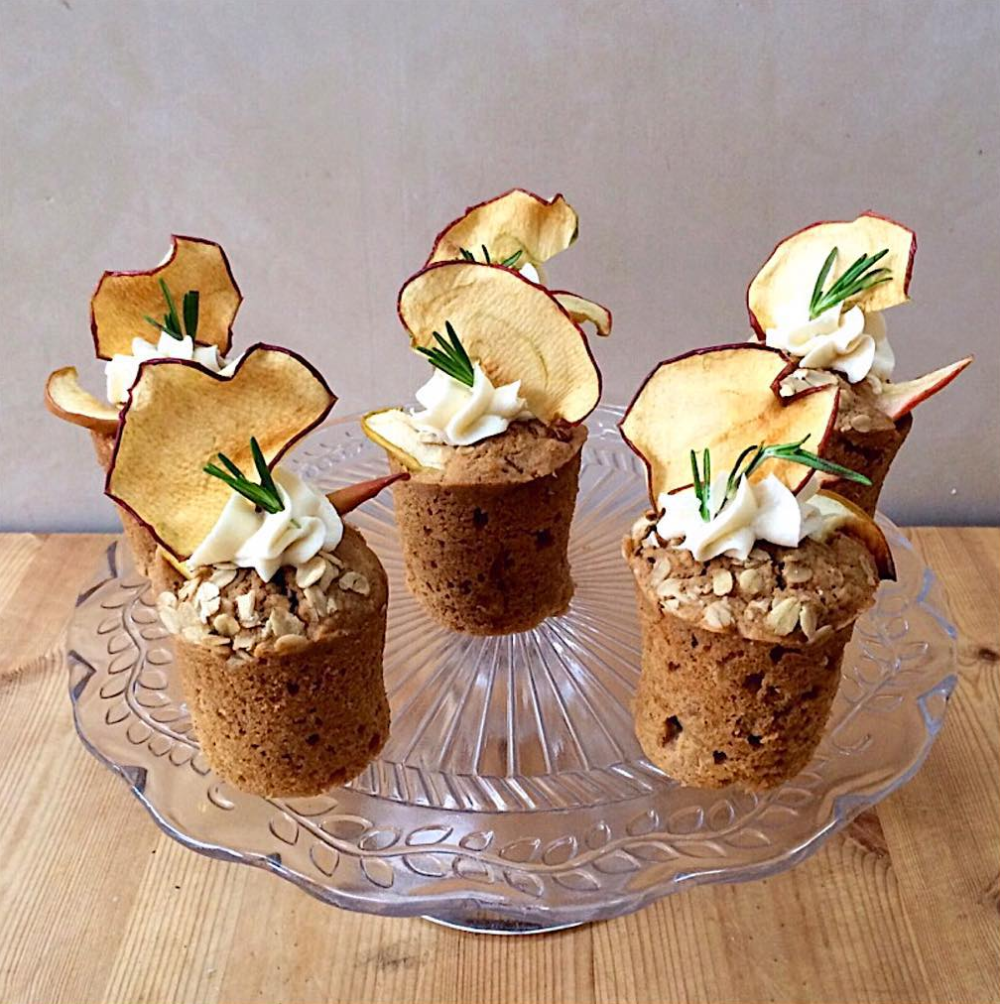 Apple-rosemary-and-olive-oil-cakes