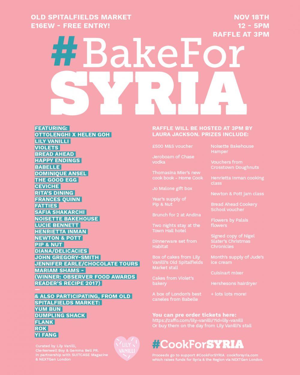 #BakeForSyria 2017- 2