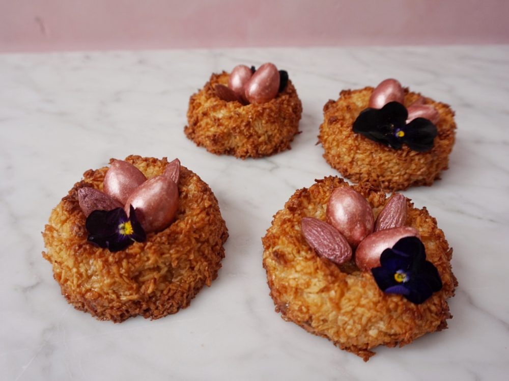 easter macaroon nests recipe