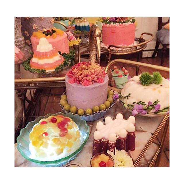 70's cake trolley for Shrimps event