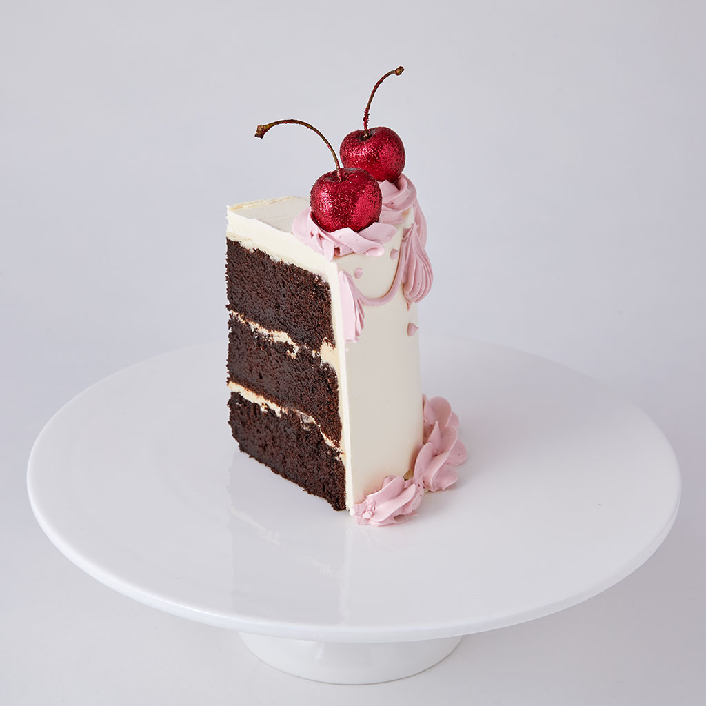 Chocolate Sponge Party Cake with Glitter Cherries   Lily Vanilli Bakery