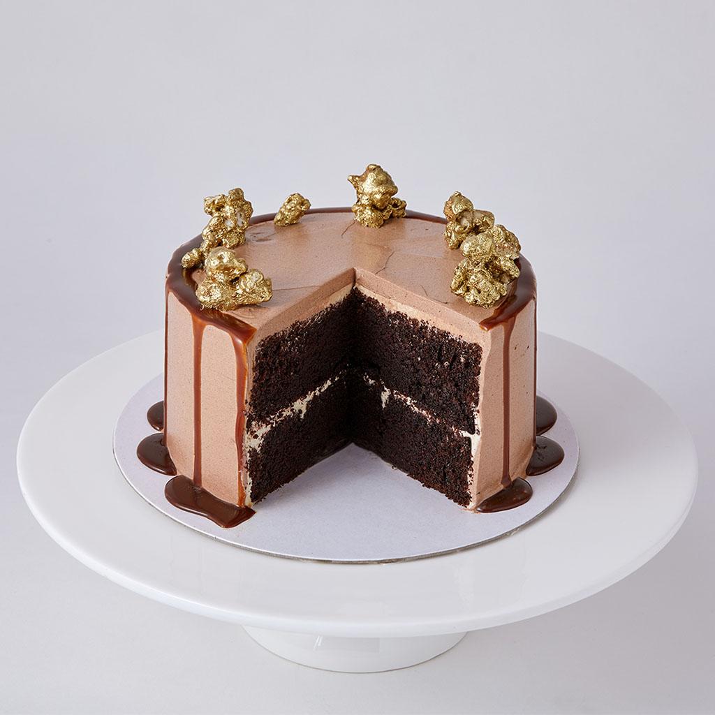 Mini Double Chocolate Sponge Cake   Lily Vanilli Bakery London