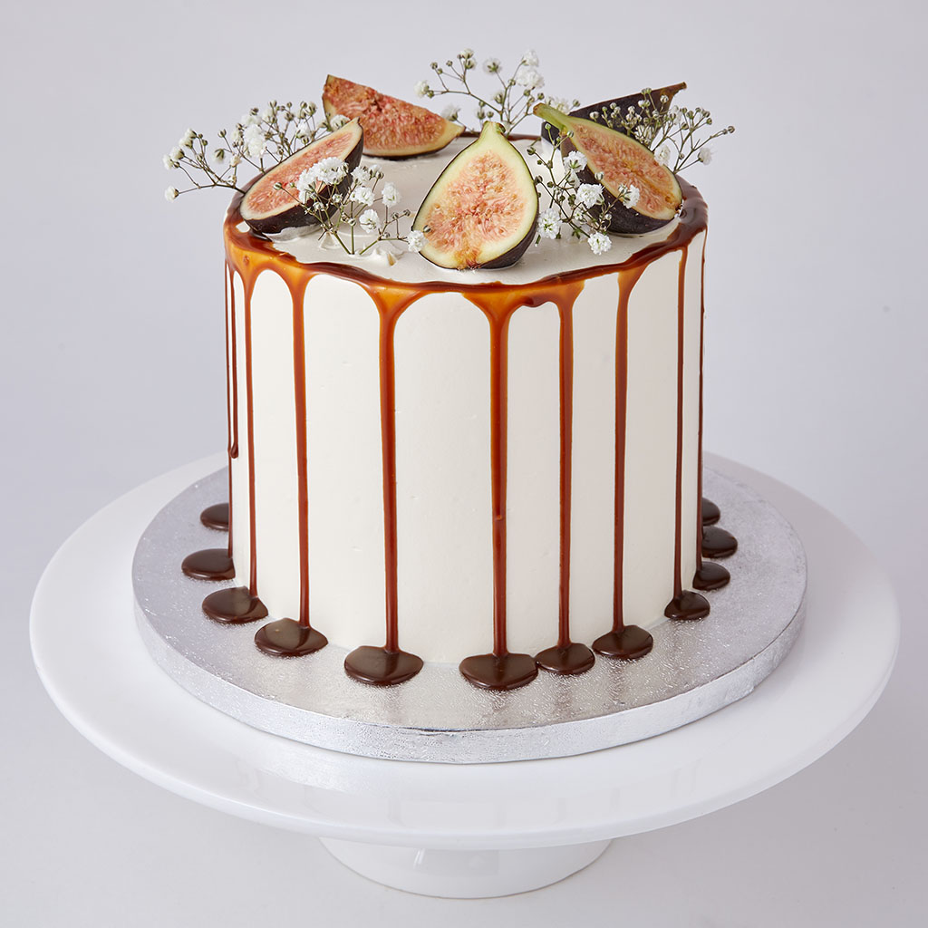 lily vanilli london bakery salted caramel fig cake
