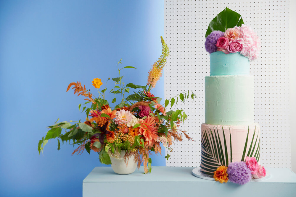 Indian Summer Wedding Cake Shoot