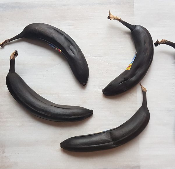 Ripened bananas straight out of the oven