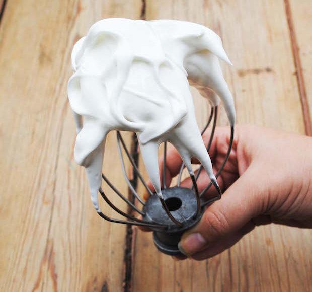 lily vanilli whipped egg whites for swiss meringue buttercream